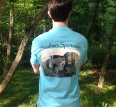 Brown Lab Sky Blue Short Sleeve T - Southern Sportsman's Apparel