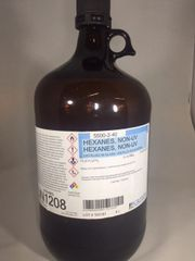 Hexanes Distilled in Glass Grade 4x4 L Part Number 5500-2-40