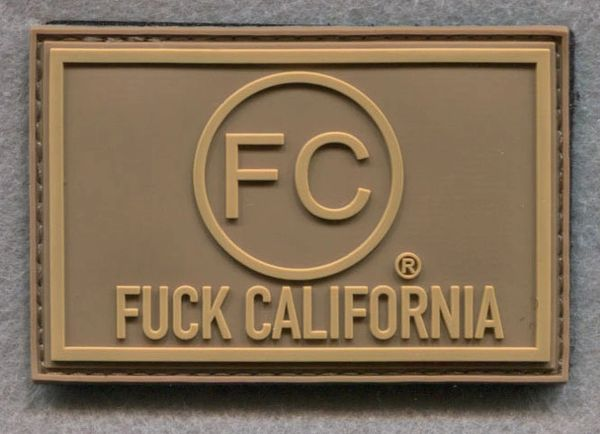 FC® logo PVC Morale Patch : F#@K California