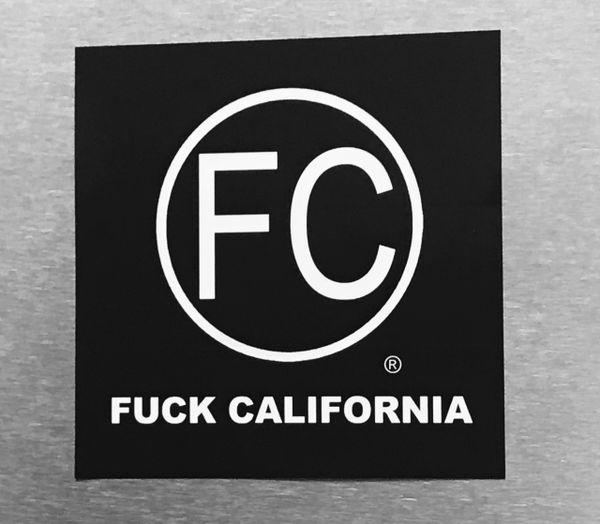 FC® logo Sticker : F#@K California vinyl decal