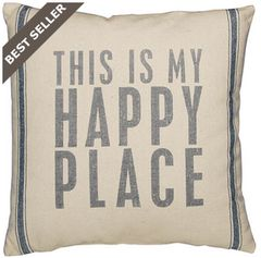 """Beach Pillow - """"This is my Happy Place"""""""