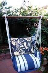Hammock Swing (Marina Stripe with Batik Fish)