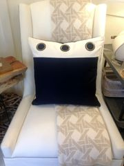 Filly White Insert Pillow with Grommets