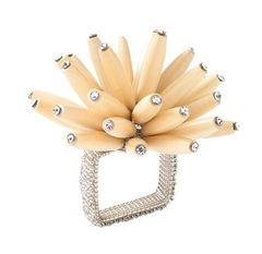 Wood Constellation Napkin Ring Set of 4