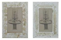 "Antique Silver and Gold 3x5"" and 2.5x4.5"" Etched Mercury Glass Photo Frame, 2 Styles"