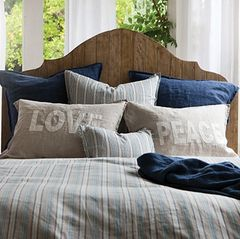 Pair of Peace and Love Standard Shams
