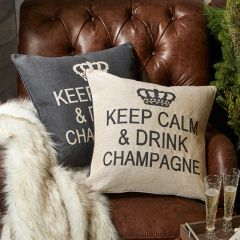 Keep Calm and Drink Champagne Pillow