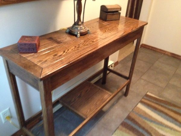 custom oak table,hidden compartment, hide weapons,secure gun ...