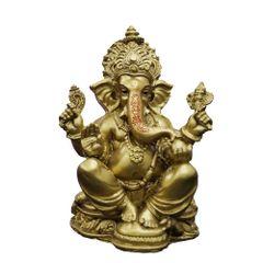 JRG Ganesha Gold Antique Finish Idol Statue (10 cms x 8.5 cms x 16 cms)