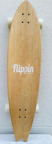 Flippin Board Co Seagull Fishtail Longboard Complete Cruiser Skateboard
