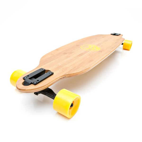 White Wave Bandit Longboard Skateboard Cruiser