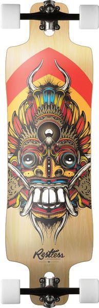 Restless Mantis Bali Freeride Longboard Skateboard Complete