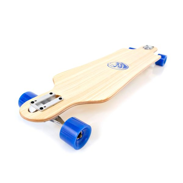 White Wave Drifter Longboard Skateboard Complete Campus Cruiser