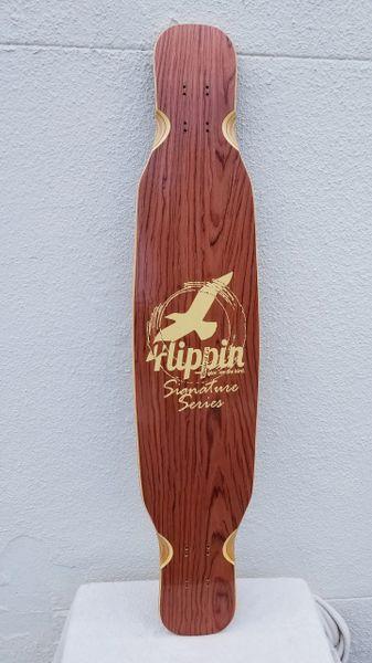 Flippin Board Co Signature Series Dancer Dancing Longboard Deck Only