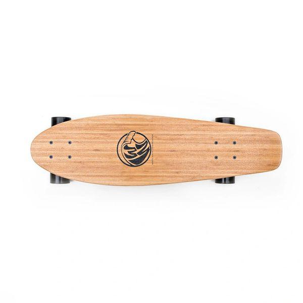White Wave Bamboo Missile Longboard Skateboard