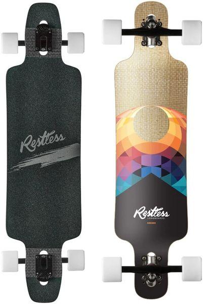 """Restless Shredder Fiberlam Splinter Longboard Skateboard Complete 39"""""""