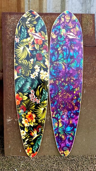 Uhu Cruiser Longboard Larry Skateboard Custom Complete Sup