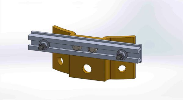"""PBPNW-8U-00-5/16----Pole Plate with 8"""" Channel, and 5/16"""" Box Mounting Hdwe."""