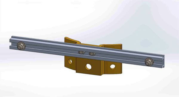 """PBPNW-16U-00----Pole Plate with 16"""" Channel, and 3/8"""" Box Mounting Hdwe."""