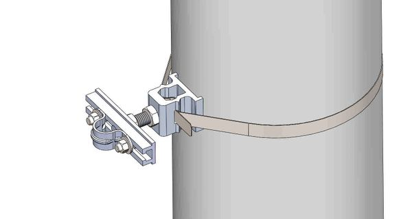 "NW-3QB-.75-5U-.75X--------Mount a .75"" conduit on concrete or steel pole with 3/4"" Stainless Steel banding."