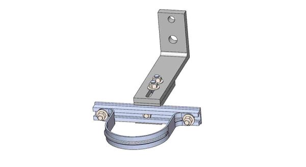 """NW10A-8-4X----Mounts a 4"""" conduit. Adjusts from 8 - 10 inches off the pole."""