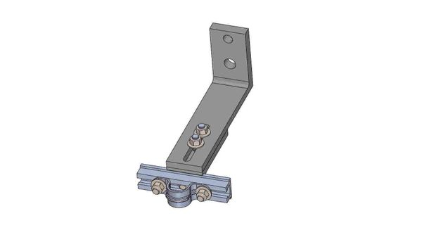 """NW10A-5-.75X----Mounts a .75"""" conduit. Adjusts from 8 - 10 inches off the pole."""