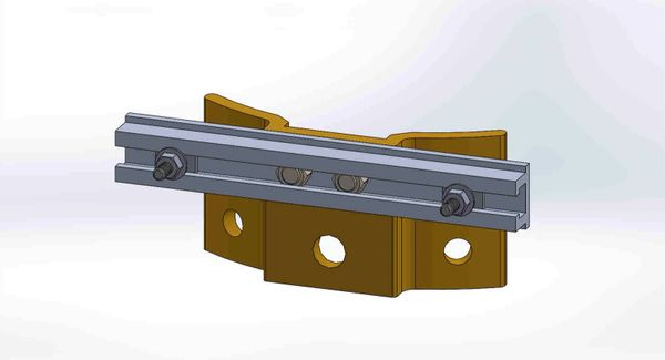 """PBPNW-8U-00-1/4----Pole Plate with 8"""" Channel, and 1/4"""" Box Mounting Hdwe."""
