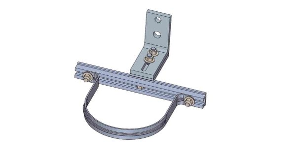 "NWA-11-6X----Mounts a 6"" conduit. Adjusts from 4.5- 6 inches off the pole."