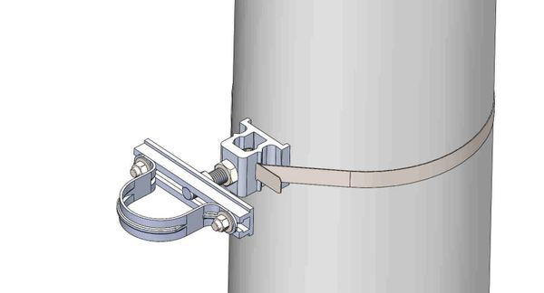 "NW-3QB-.75-6U-2.5X--------Mount a 2.5"" conduit on concrete or steel pole with 3/4"" Stainless Steel banding."