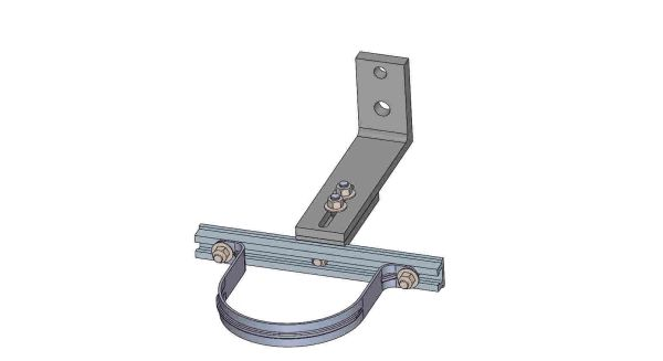 """NW10A-10-5X----Mounts a 5"""" conduit. Adjusts from 8 - 10 inches off the pole."""