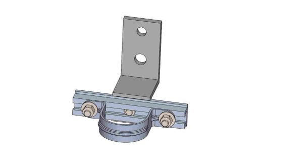 """LNW-6-2X----Mount a 2"""" conduit 3 inches off the pole."""