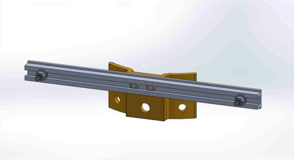 """PBPNW-16U-00-5/16----Pole Plate with 16"""" Channel, and 5/16"""" Box Mounting Hdwe."""