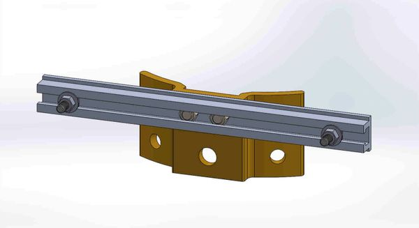 """PBPNW-12U-00-5/16----Pole Plate with 12"""" Channel, and 5/16"""" Box Mounting Hdwe."""