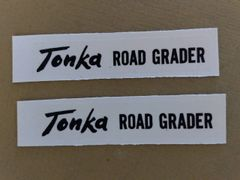 Road Grader Decals Tonka TK58 Page 66 And 67