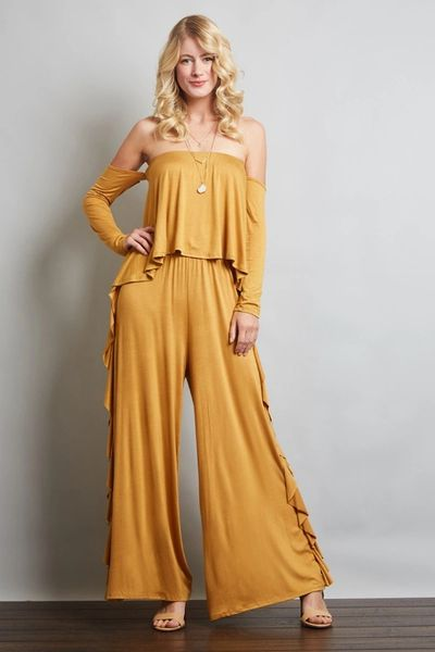d5e41f5ae02 Side Ruffle Tube Top Jumpsuit