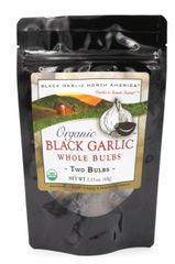 "Black Garlic Organic Whole Bulb 60 Grams ""Two Bags"""