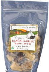 "Black Garlic ""Organic"" Whole Bulb 12 oz. Bag"