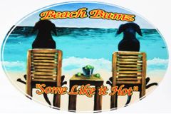 Beach Bumz Window Decal (4x6 Oval)