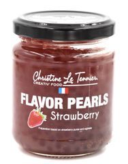 Christine Le Tennier Strawberry Flavor Pearls, 7oz Jar