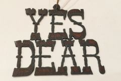 Rusty Yes Dear Ornament
