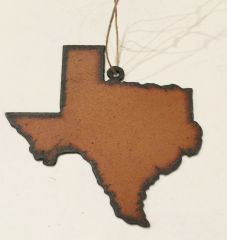 Rusty Metal Texas Ornament