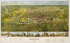 Houston Historical Map 1891