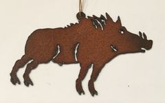 Rusty Boar Ornament