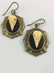 Bird Skull Earrings