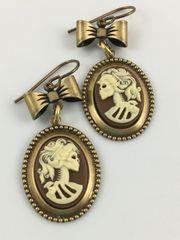 Steampunk Goth Lolita Earrings by Victorian Folly