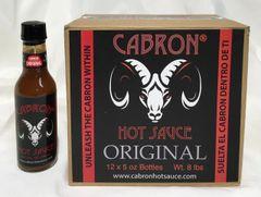 ORIGINAL CABRON HOT SAUCE - Case of 12 (5 oz Bottles)